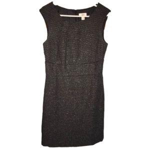 *NEW ITEM LOFT Black Tweed Cap Sleeve Sheath Dress